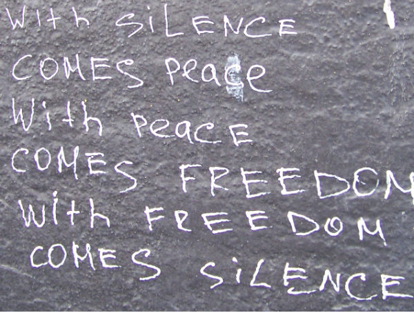 With Silence Comes Peace- East Side Gallery, Berlin